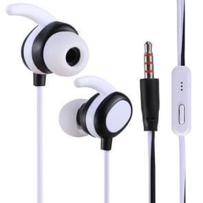 012 1.2m Stereo Sound In-ear Wire Control Sports Koptelefoon met Mic, Voor iPhone, iPad, Galaxy, Huawei, Xiaomi, LG, HTC en Other Smartphones((wit)+Zwart)