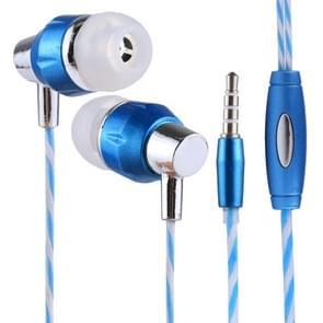 GTX-011 1.2m Bass Stereo Sound In-ear Wire Control Sports Koptelefoon met Mic, Voor iPhone, iPad, Galaxy, Huawei, Xiaomi, LG, HTC en Other Smartphones(blauw+(wit))