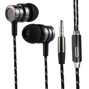 BX-010 1.2m Bass Stereo Sound In-ear Wire Control Sports Koptelefoon met Mic, Voor iPhone, iPad, Galaxy, Huawei, Xiaomi, LG, HTC en Other Smartphones (zwart)