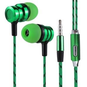BX-010 1.2m Bass Stereo Sound In-ear Wire Control Sports Koptelefoon met Mic, Voor iPhone, iPad, Galaxy, Huawei, Xiaomi, LG, HTC en Other Smartphones (groen)