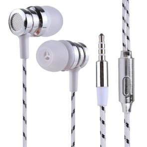 BX-010 1.2m Bass Stereo Sound In-ear Wire Control Sports Koptelefoon met Mic, Voor iPhone, iPad, Galaxy, Huawei, Xiaomi, LG, HTC en Other Smartphones wit