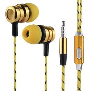 BX-010 1.2m Bass Stereo Sound In-ear Wire Control Sports Koptelefoon met Mic, Voor iPhone, iPad, Galaxy, Huawei, Xiaomi, LG, HTC en Other Smartphones (geel)