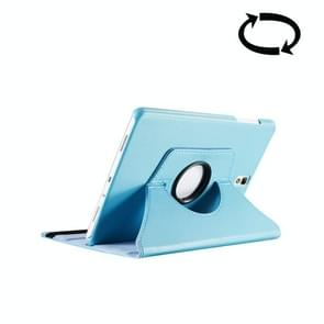 For Samsung Galaxy Tab S3 9.7 / T820 Litchi Texture 360 Degree Rotatable Leather Case with Sleep / Wake-up Function & Holder(Blue)