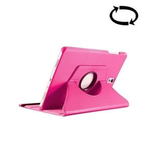 For Samsung Galaxy Tab S3 9.7 / T820 Litchi Texture 360 Degree Rotatable Leather Case with Sleep / Wake-up Function & Holder(Magenta)