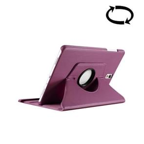 For Samsung Galaxy Tab S3 9.7 / T820 Litchi Texture 360 Degree Rotatable Leather Case with Sleep / Wake-up Function & Holder(Purple)