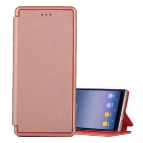 For Samsung Galaxy Note 8 Ultra-thin Magnetic Horizontal Flip Shockproof Protective Leather Case with Holder & Card Slot (Rose Gold)