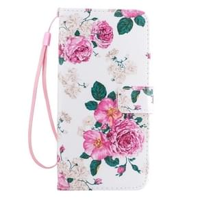 For Samsung Galaxy S8 Pink Rose Flower Pattern Horizontal Flip Leather Case with Holder & Card Slots & Wallet