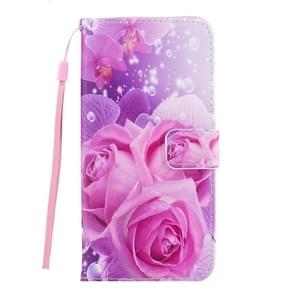For Samsung Galaxy S8 Romantic Pink Rose Pattern Horizontal Flip Leather Case with Holder & Card Slots & Wallet