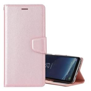 For Samsung Galaxy S8+ / G9550 Silk Texture Horizontal Flip Leather Case with Holder & Card Slots & Wallet & Photo Frame (Rose Gold)