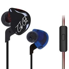 KZ ED12 1.2m 3.5mm Hanging Ear Sports Design In-Ear Style Wire Control Koptelefoon, Voor iPhone, iPad, Galaxy, Huawei, Xiaomi, LG, HTC en Other Smart