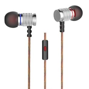KZ EDR2 3.5mm Rear Mesh Design In-Ear Style Wire Control Koptelefoon, Voor iPhone, iPad, Galaxy, Huawei, Xiaomi, LG, HTC en Other Smart(zilver)