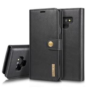 DG.MING Crazy Horse Texture Flip Detachable Magnetic Leather Case for Galaxy Note 9, with Holder & Card Slots & Wallet(Black)