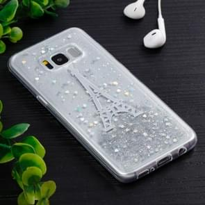 For Samsung Galaxy S8 + / G9550 White Tower Pattern TPU Protective Back Cover Case