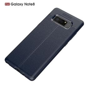 For Galaxy Note 8 Litchi Texture TPU Protective Back Cover Case (navy)