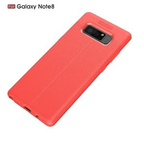 For Galaxy Note 8 Litchi Texture TPU Protective Back Cover Case (Red)