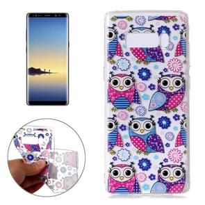 For Samsung Galaxy Note 8 Flower Owls Pattern TPU Protective Case