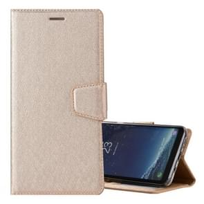 For Samsung Galaxy S8 Silk Texture Horizontal Flip Leather Case with Holder & Card Slots & Wallet & Photo Frame (Gold)