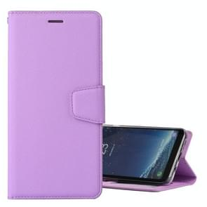 For Samsung Galaxy S8 Silk Texture Horizontal Flip Leather Case with Holder & Card Slots & Wallet & Photo Frame (Purple)