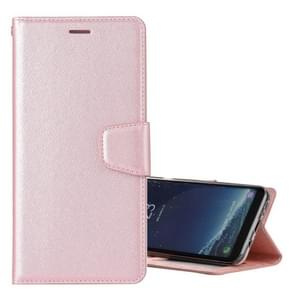 For Samsung Galaxy S8 Silk Texture Horizontal Flip Leather Case with Holder & Card Slots & Wallet & Photo Frame (Rose Gold)