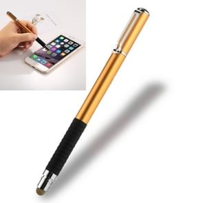 Universal 2 in 1 Multifunction Round Thin Tip Capacitive Touch Screen Stylus Pen, For iPhone, iPad, Samsung, and Other Capacitive Touch Screen Smartphones or Tablet PC(Gold)
