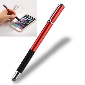 Universal 2 in 1 Multifunction Round Thin Tip Capacitive Touch Screen Stylus Pen, For iPhone, iPad, Samsung, and Other Capacitive Touch Screen Smartphones or Tablet PC(Red)
