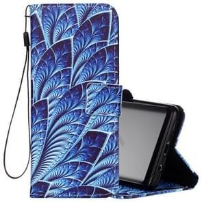 Voor Samsung Galaxy S9 blauw Dazzle patroon horizontaal Flip lederen hoesje met houder & opbergruimte voor pinpassen & portemonnee & Lanyard