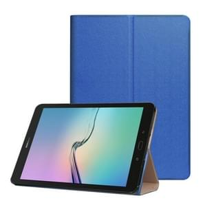 For Samsung Galaxy Tab S3 9.7 inch T820 / T825 Golden Stone Series PU Leather Stand Case Cover Shield(Dark Blue)