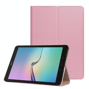 For Samsung Galaxy Tab S3 9.7 inch T820 / T825 Golden Stone Series PU Leather Stand Case Cover Shield(Pink)