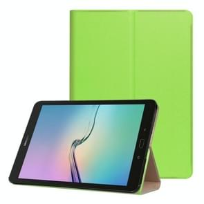 For Samsung Galaxy Tab S3 9.7 inch T820 / T825 Golden Stone Series PU Leather Stand Case Cover Shield(Green)