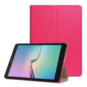 For Samsung Galaxy Tab S3 9.7 inch T820 / T825 Golden Stone Series PU Leather Stand Case Cover Shield(Red)