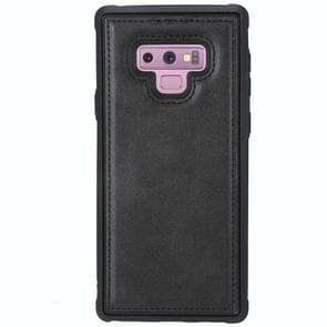 Magnetic Shockproof TPU + PC + PU Leather Pasted Case for Galaxy Note9(Black)