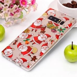 For Samsung Galaxy Note 8 Santa Claus Pattern High Transparency Soft TPU Protective Case