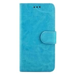 For Samsung Galaxy S7 / G930 Crazy Horse Texture Horizontal Flip Magnetic Snap Leather Case with Adjustable Holder & Card Slots & Photo Frame & Wallet(Blue)