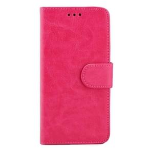 For Samsung Galaxy S7 / G930 Crazy Horse Texture Horizontal Flip Magnetic Snap Leather Case with Adjustable Holder & Card Slots & Photo Frame & Wallet(Magenta)