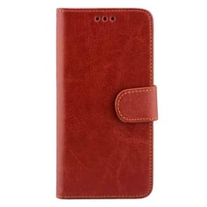 For Samsung Galaxy S7 / G930 Crazy Horse Texture Horizontal Flip Magnetic Snap Leather Case with Adjustable Holder & Card Slots & Photo Frame & Wallet(Brown)