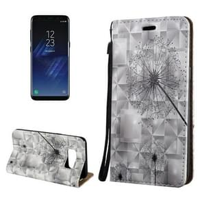 For Samsung Galaxy S8 3D Relief Dandelion Pattern Magnetic Adsorption Horizontal Flip Leather Case with Holder & Card Slots & Lanyard