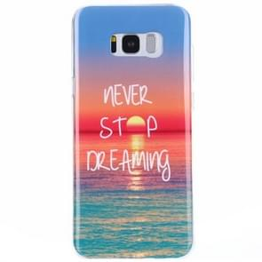 For Samsung Galaxy S8 + / G9550 Sunrise at Sea Pattern IMD Workmanship TPU Protective Back Cover Case