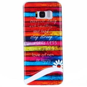 For Samsung Galaxy S8 + / G9550 Colour Blocks Pattern IMD Workmanship TPU Protective Back Cover Case