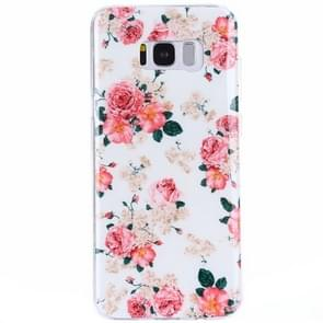 For Samsung Galaxy S8 + / G9550 Rose Pattern IMD Workmanship TPU Protective Back Cover Case
