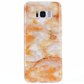For Samsung Galaxy S8 + / G9550 Yellow Marble Pattern IMD Workmanship TPU Protective Back Cover Case