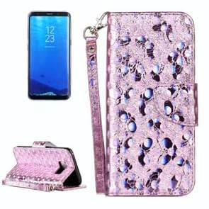 For Samsung Galaxy S8 Laser Butterfly Horizontal Flip Leather Case with Holder & Card Slots & Wallet (Silver)