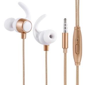 YD-013 1.2m Bass Stereo Sound In-ear Wire Control Sports Koptelefoon met Mic, Voor iPhone, iPad, Galaxy, Huawei, Xiaomi, LG, HTC en Other Smartphones (Goud)