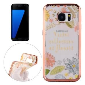 For Samsung Galaxy S7 Edge / G935 Lucky Leaves Pattern Electroplating Frame Soft TPU Protective Case