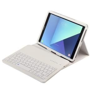 For Samsung Galaxy Tab S3 9.7 / T820 2 in 1 Detachable Bluetooth Keyboard Litchi Texture Leather Case with Holder(White)