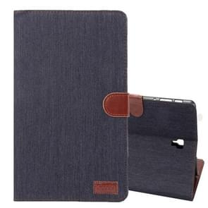 Dibase Denim Texture Horizontal Flip PU Leather Case for Galaxy Tab A 10.5 / T590, with Holder & Card Slot (Black)