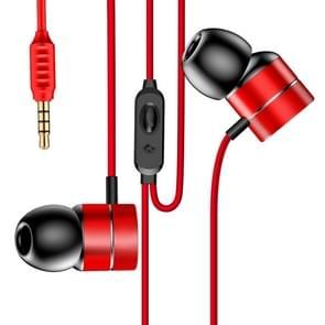Baseus Encok H04 1.2m 3.5mm Knurling Oblique In-Ear Style Wire Control Koptelefoon, Voor iPhone, iPad, Galaxy, Huawei, Xiaomi, LG, HTC en Other Smart Phones(rood)