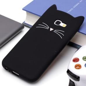 Voor Samsung Galaxy A5 (2017) siliconen Cat Whiskers patroon beschermings Back Cover hoesje(zwart)