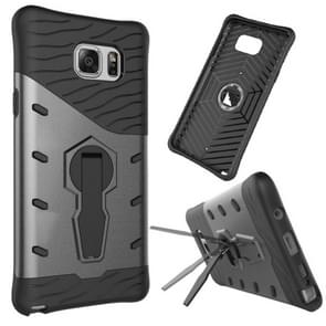 For Samsung Galaxy Note 5 / N920 Shock-Resistant 360 Degree Spin Tough Armor TPU+PC Combination Case with Holder(Black)