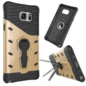 For Samsung Galaxy Note 5 / N920 Shock-Resistant 360 Degree Spin Tough Armor TPU+PC Combination Case with Holder(Gold)