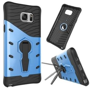 For Samsung Galaxy Note 5 / N920 Shock-Resistant 360 Degree Spin Tough Armor TPU+PC Combination Case with Holder(Blue)